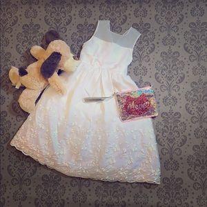 Kids - Sz 8 - White Dress - Flower Girl, Easter